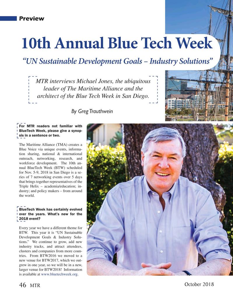Marine Technology Magazine, page 46,  Oct 2018