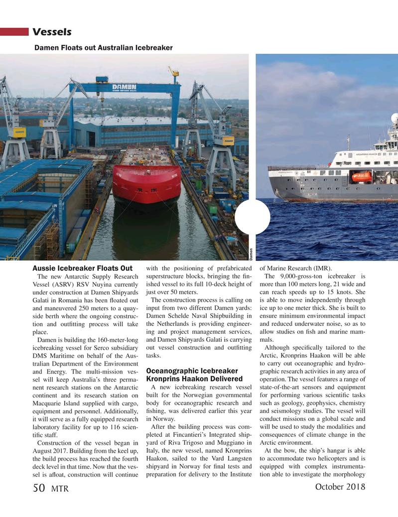 Marine Technology Magazine, page 50,  Oct 2018