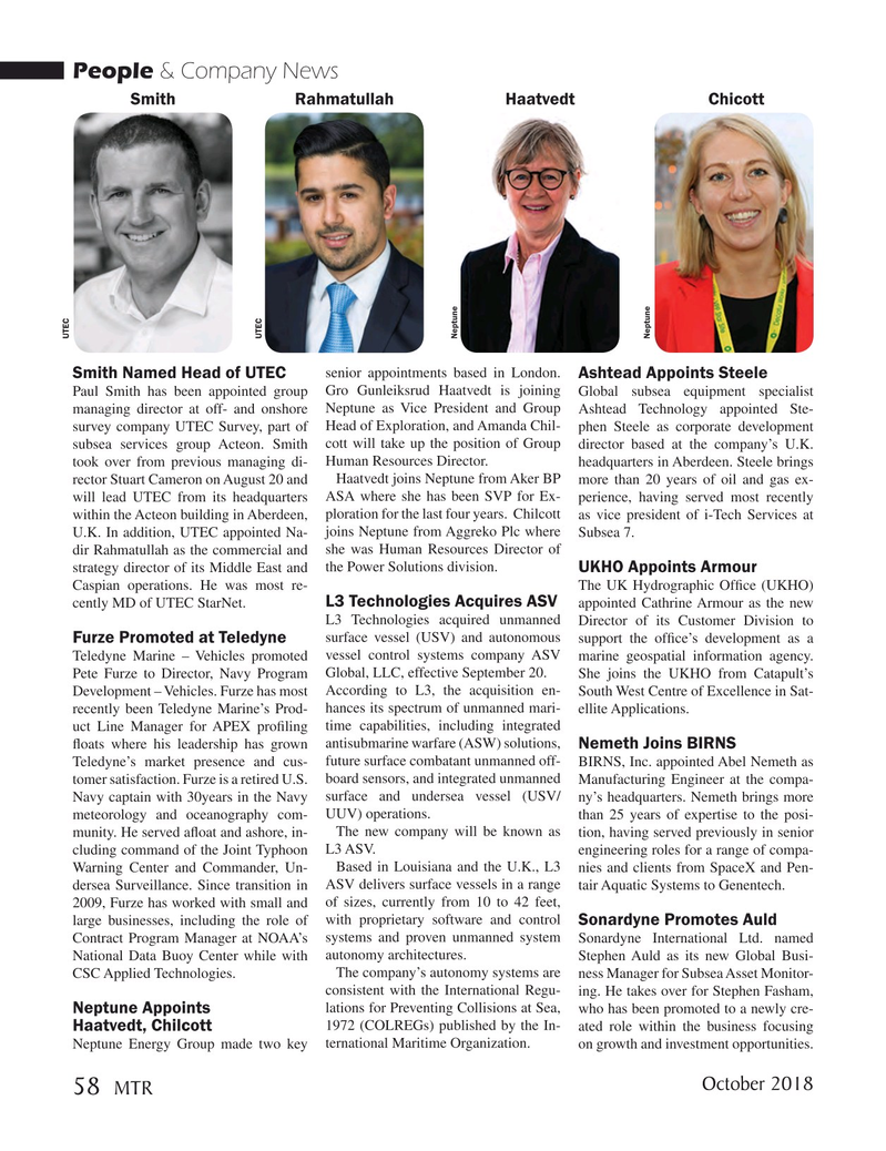 Marine Technology Magazine, page 58,  Oct 2018