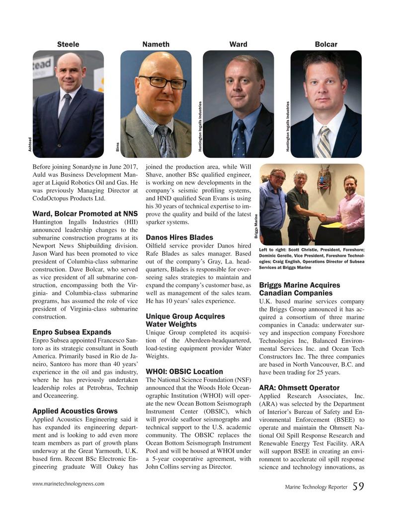 Marine Technology Magazine, page 59,  Oct 2018