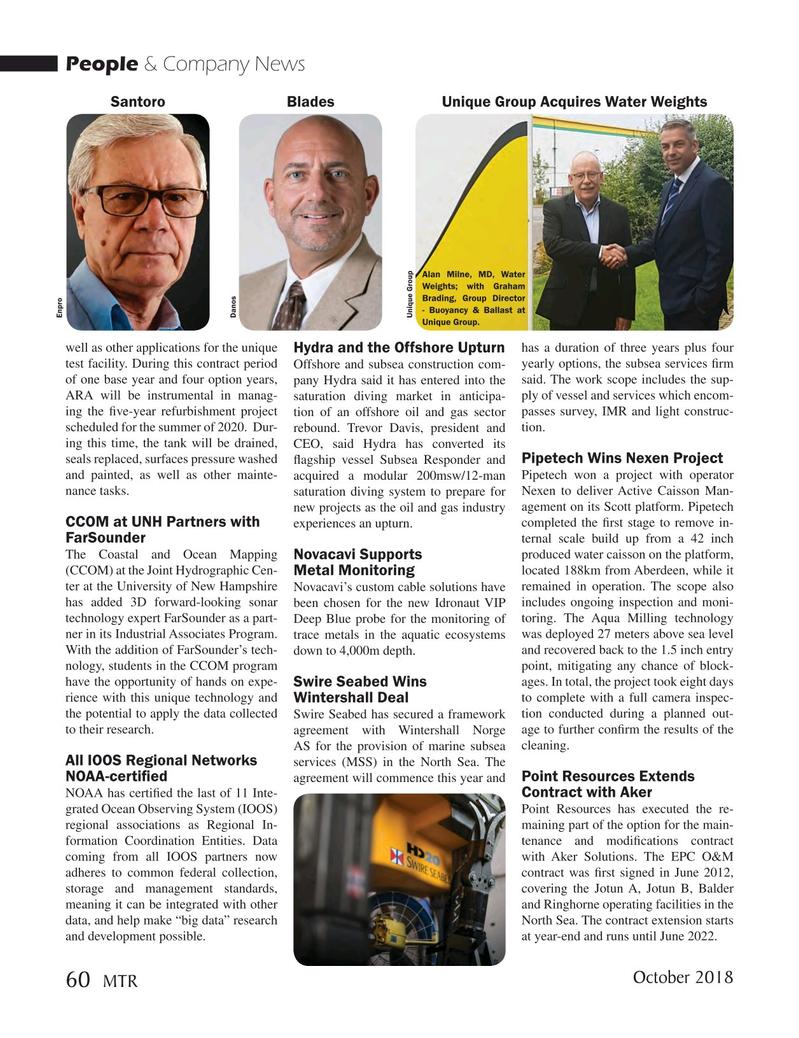 Marine Technology Magazine, page 60,  Oct 2018