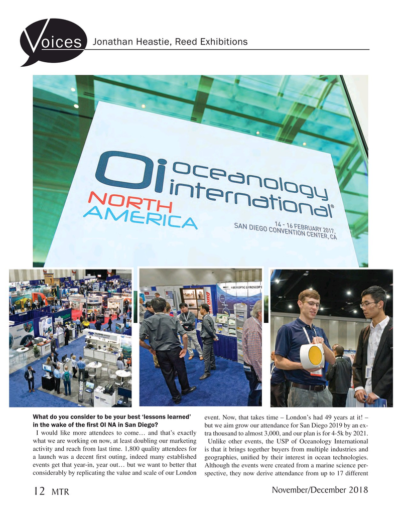 Marine Technology Magazine, page 12,  Nov 2018