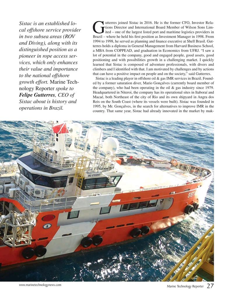 Marine Technology Magazine November 2018, 27 page