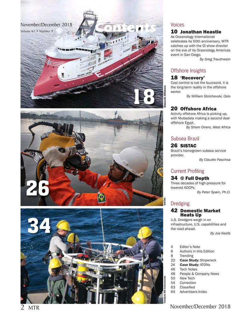Marine Technology Magazine, page 2,  Nov 2018