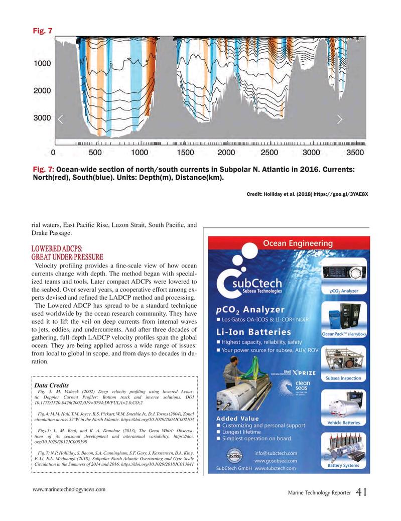 Marine Technology Magazine, page 41,  Nov 2018
