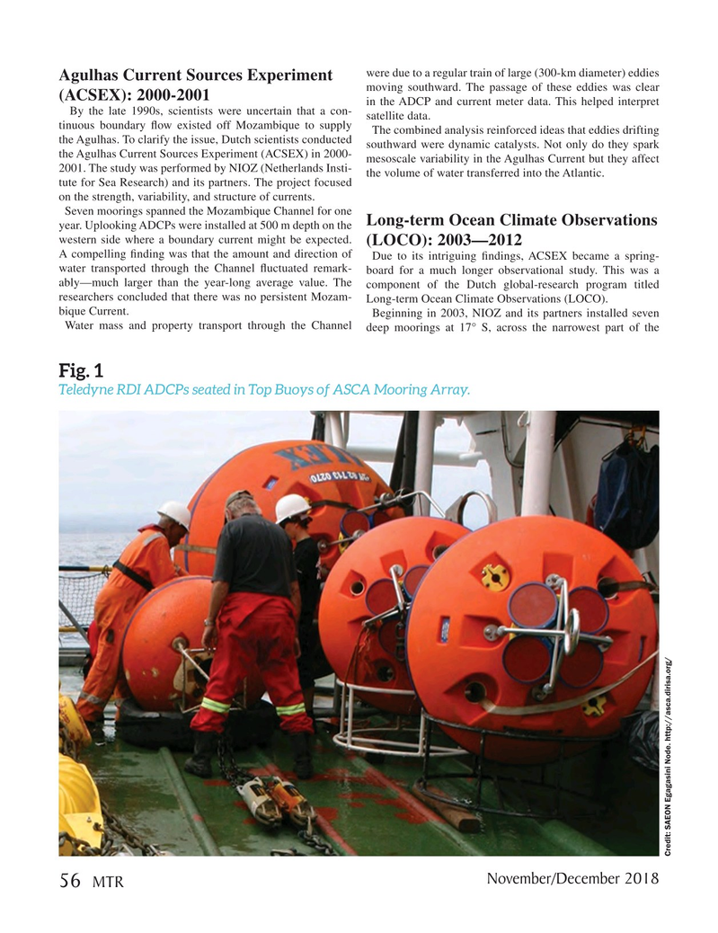 Marine Technology Magazine, page 56,  Nov 2018