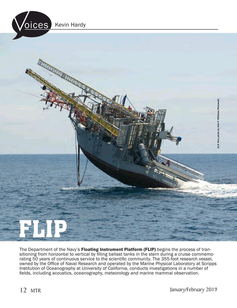 Marine Technology Magazine, page 12,  Jan 2019