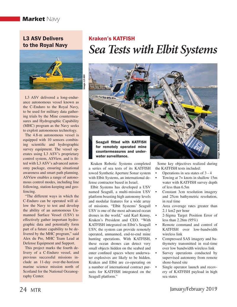 Marine Technology Magazine, page 24,  Jan 2019