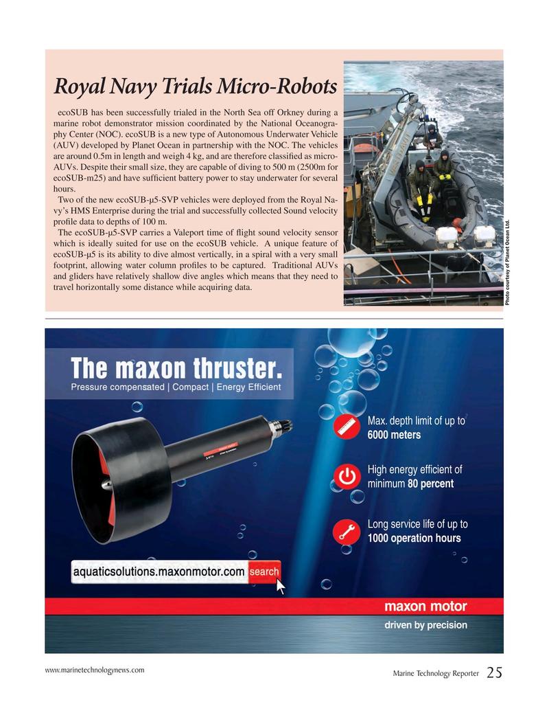 Marine Technology Magazine, page 25,  Jan 2019