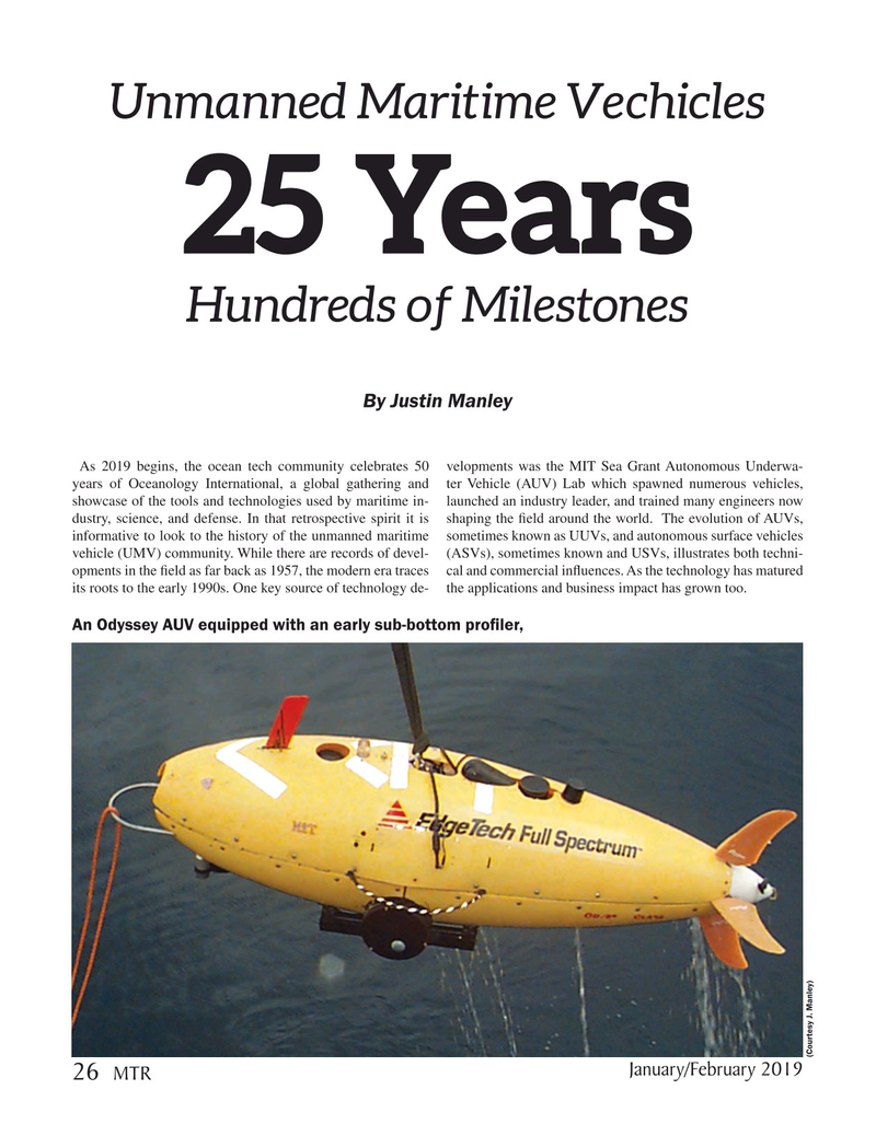 Marine Technology Magazine, page 26,  Jan 2019