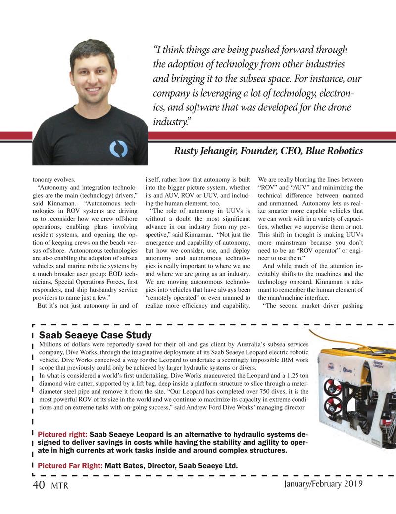 Marine Technology Magazine, page 40,  Jan 2019