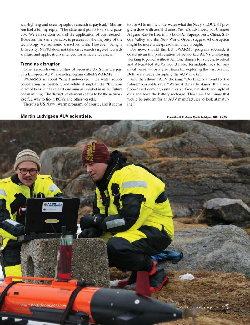 Marine Technology Magazine, page 45,  Jan 2019