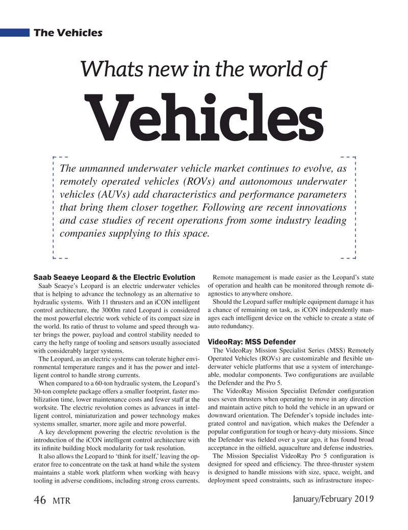 Marine Technology Magazine, page 46,  Jan 2019