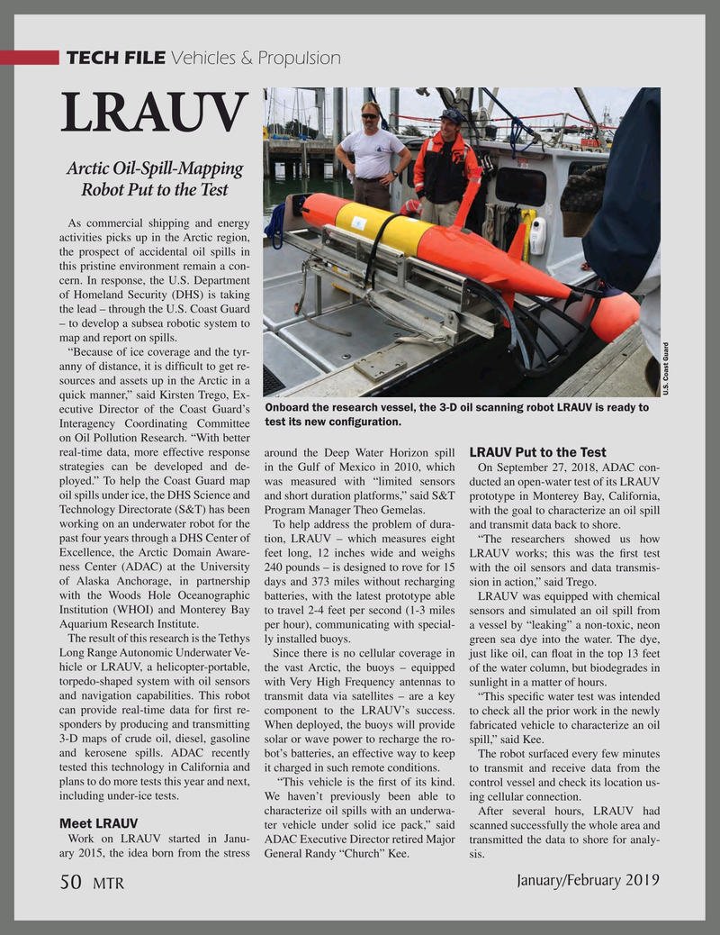 Marine Technology Magazine, page 50,  Jan 2019