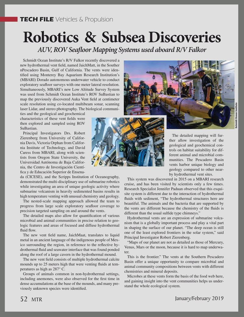 Marine Technology Magazine, page 52,  Jan 2019