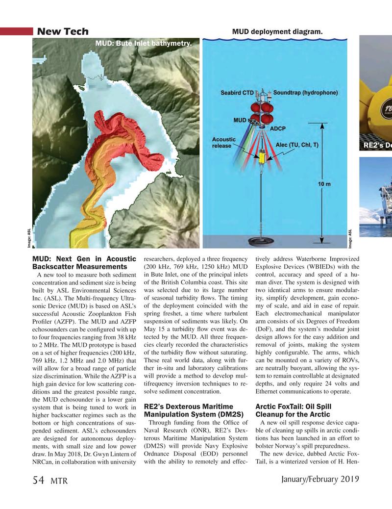 Marine Technology Magazine, page 54,  Jan 2019