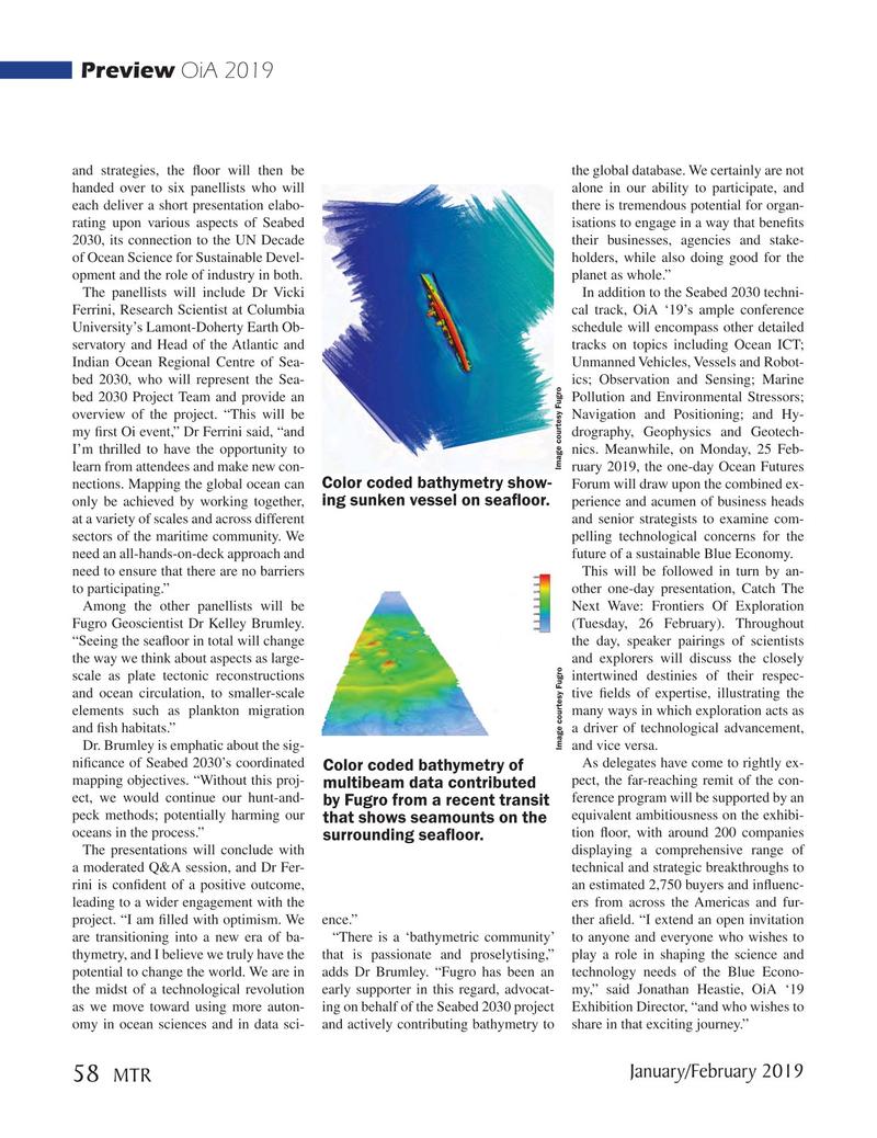 Marine Technology Magazine, page 58,  Jan 2019