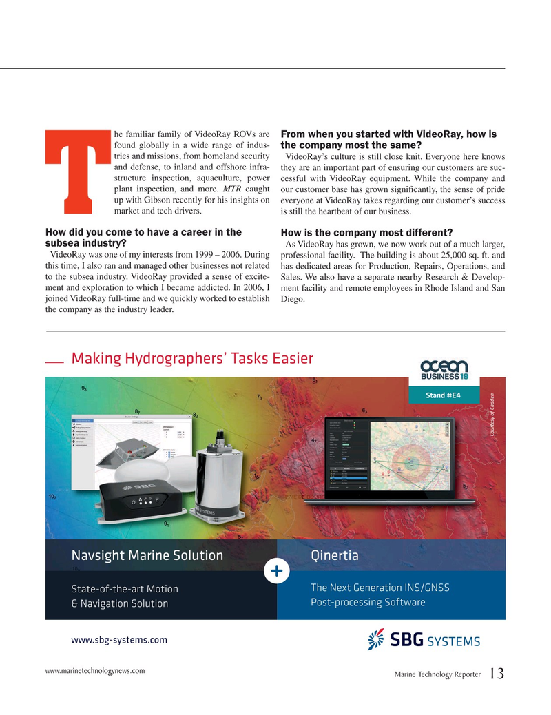 Marine Technology Magazine, page 13,  Mar 2019