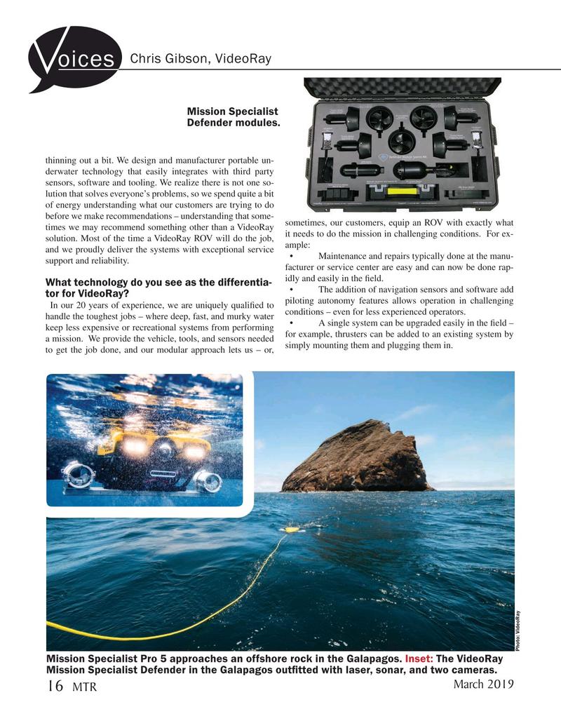 Marine Technology Magazine, page 16,  Mar 2019