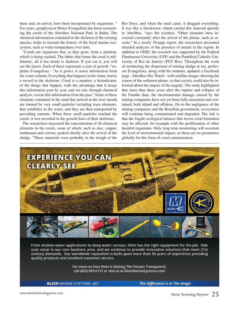Marine Technology Magazine, page 25,  Mar 2019