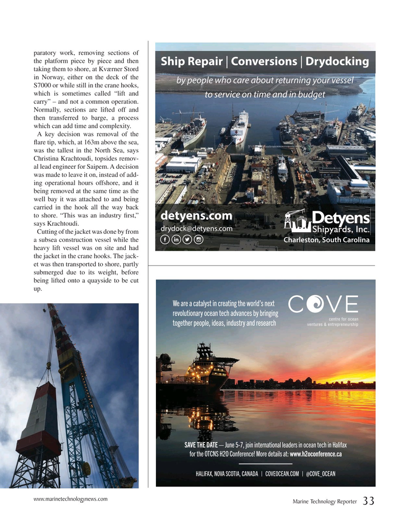 Marine Technology Magazine, page 33,  Mar 2019