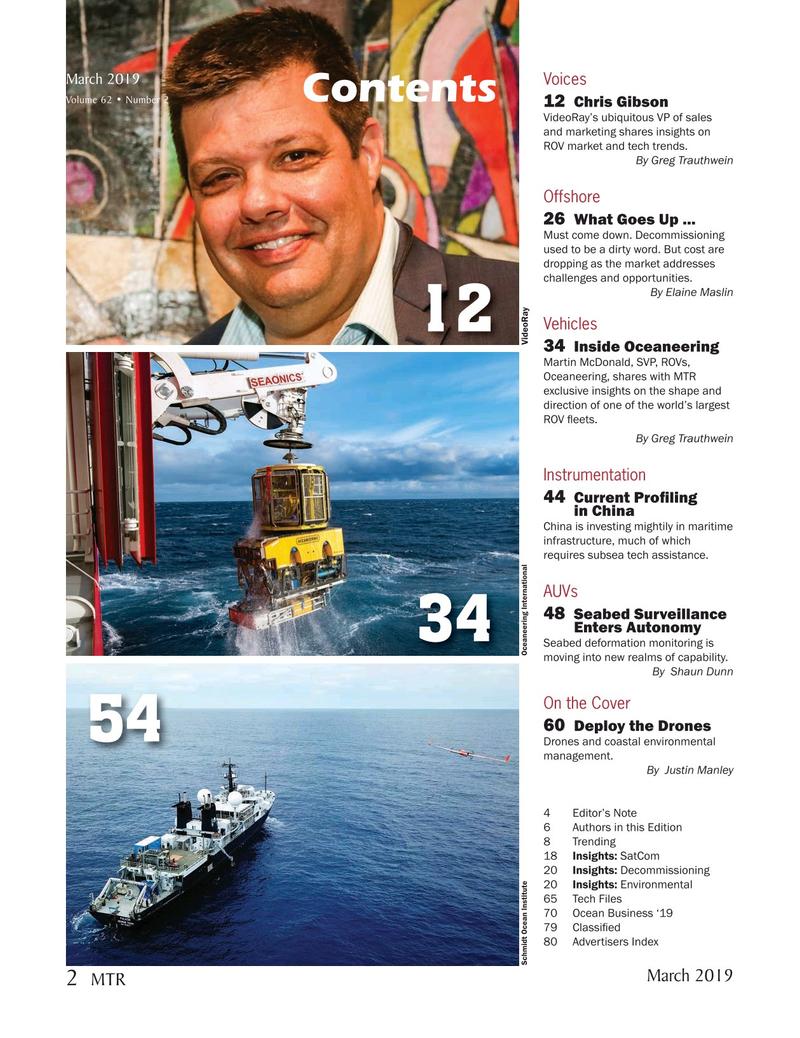 Marine Technology Magazine, page 2,  Mar 2019