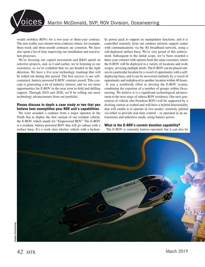 Marine Technology Magazine, page 42,  Mar 2019
