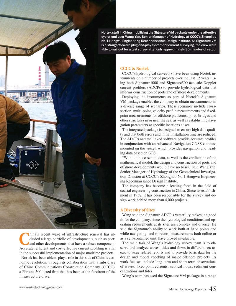Marine Technology Magazine, page 45,  Mar 2019