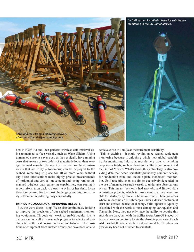 Marine Technology Magazine, page 52,  Mar 2019