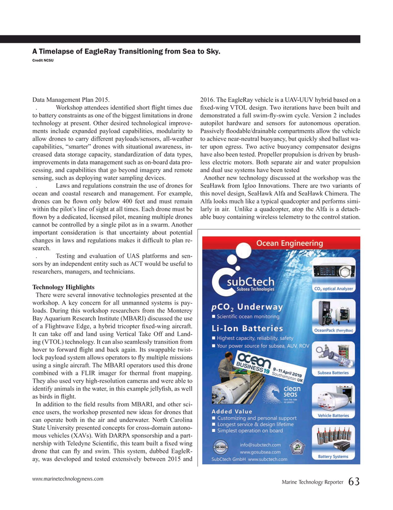 Marine Technology Magazine, page 63,  Mar 2019