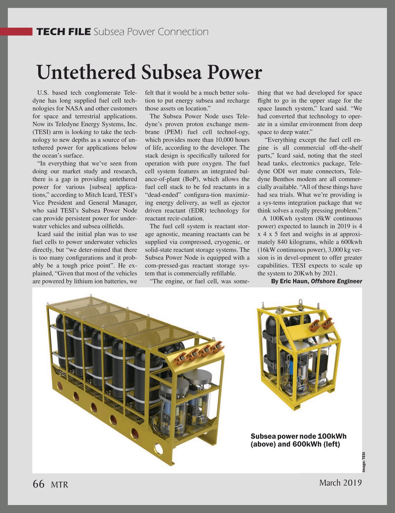 Marine Technology Magazine, page 66,  Mar 2019