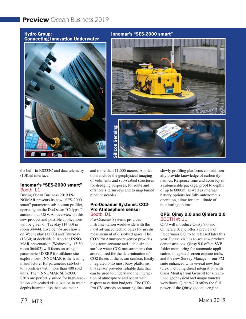 Marine Technology Magazine, page 72,  Mar 2019