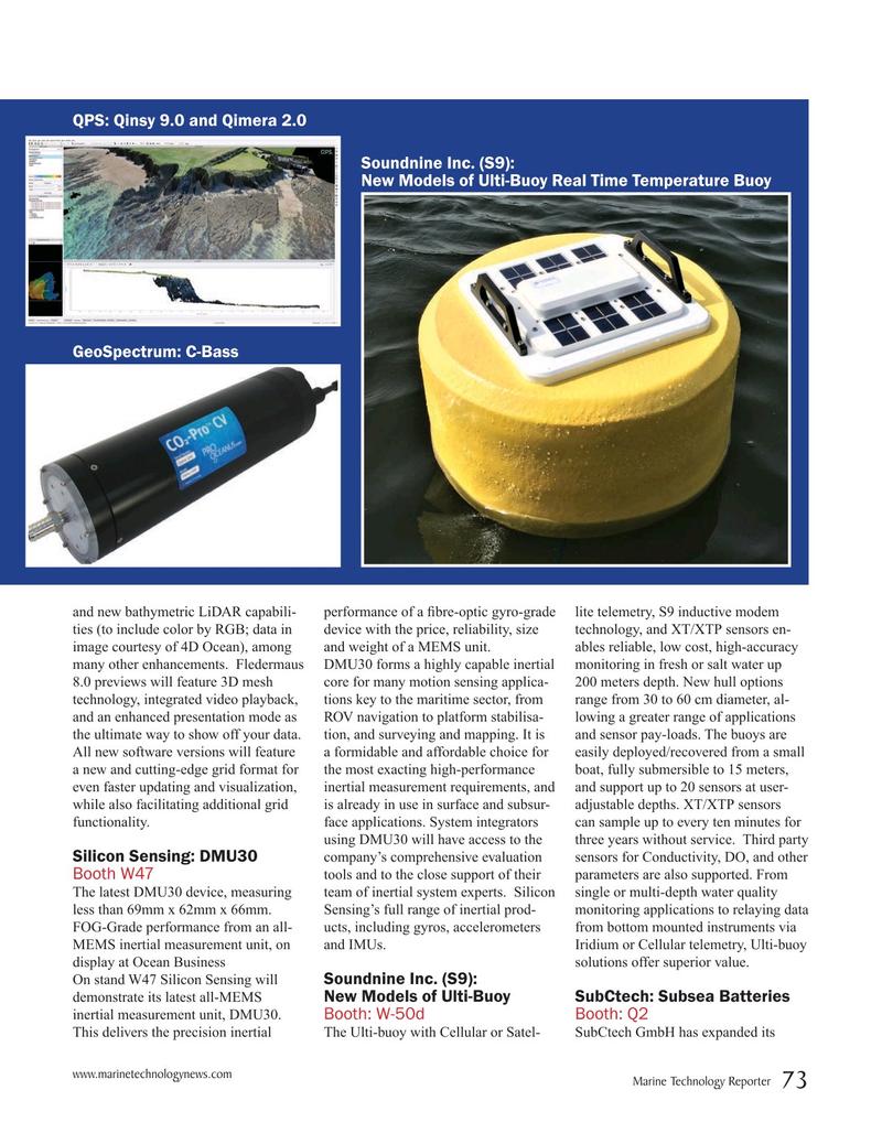 Marine Technology Magazine, page 73,  Mar 2019