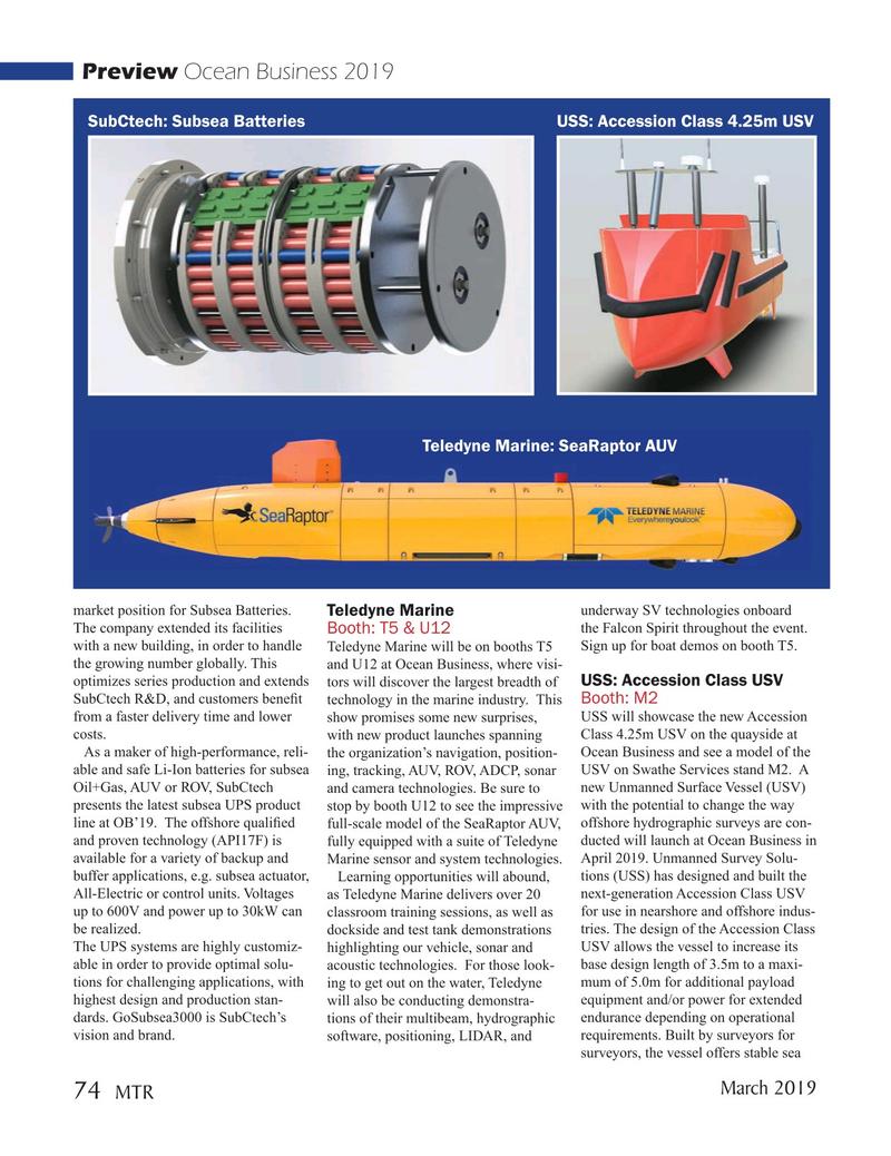 Marine Technology Magazine, page 74,  Mar 2019