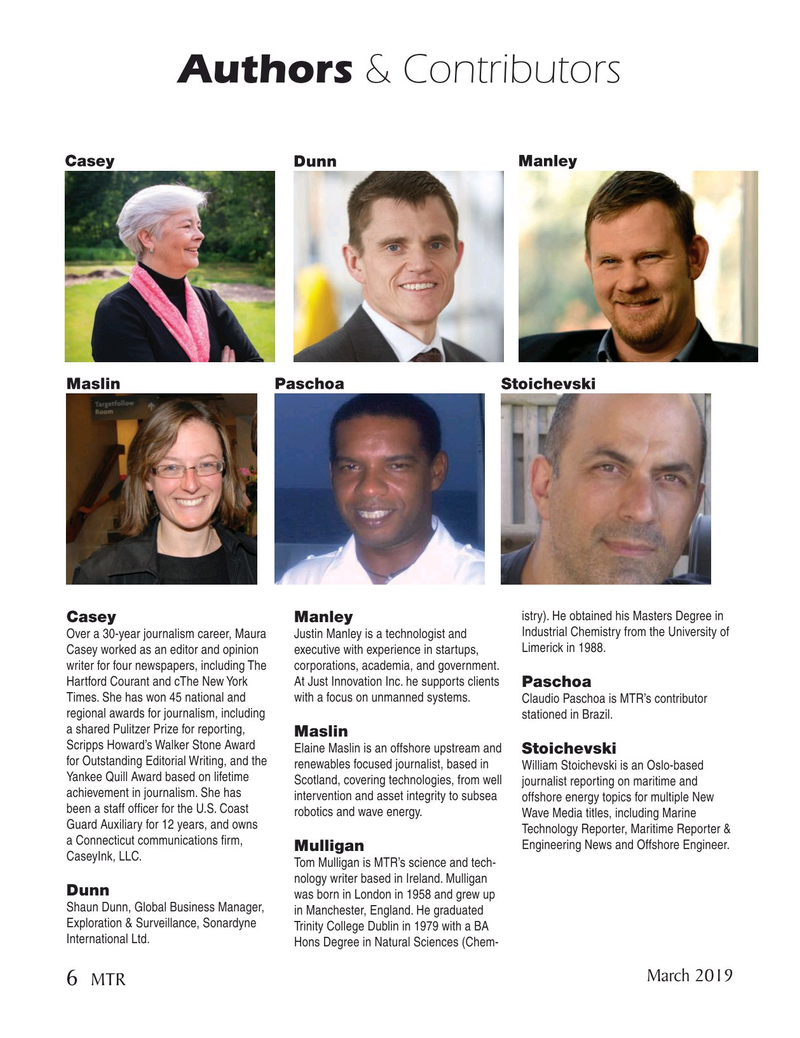 Marine Technology Magazine, page 6,  Mar 2019