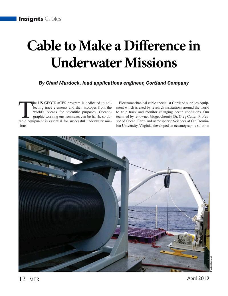 Marine Technology Magazine, page 12,  Apr 2019