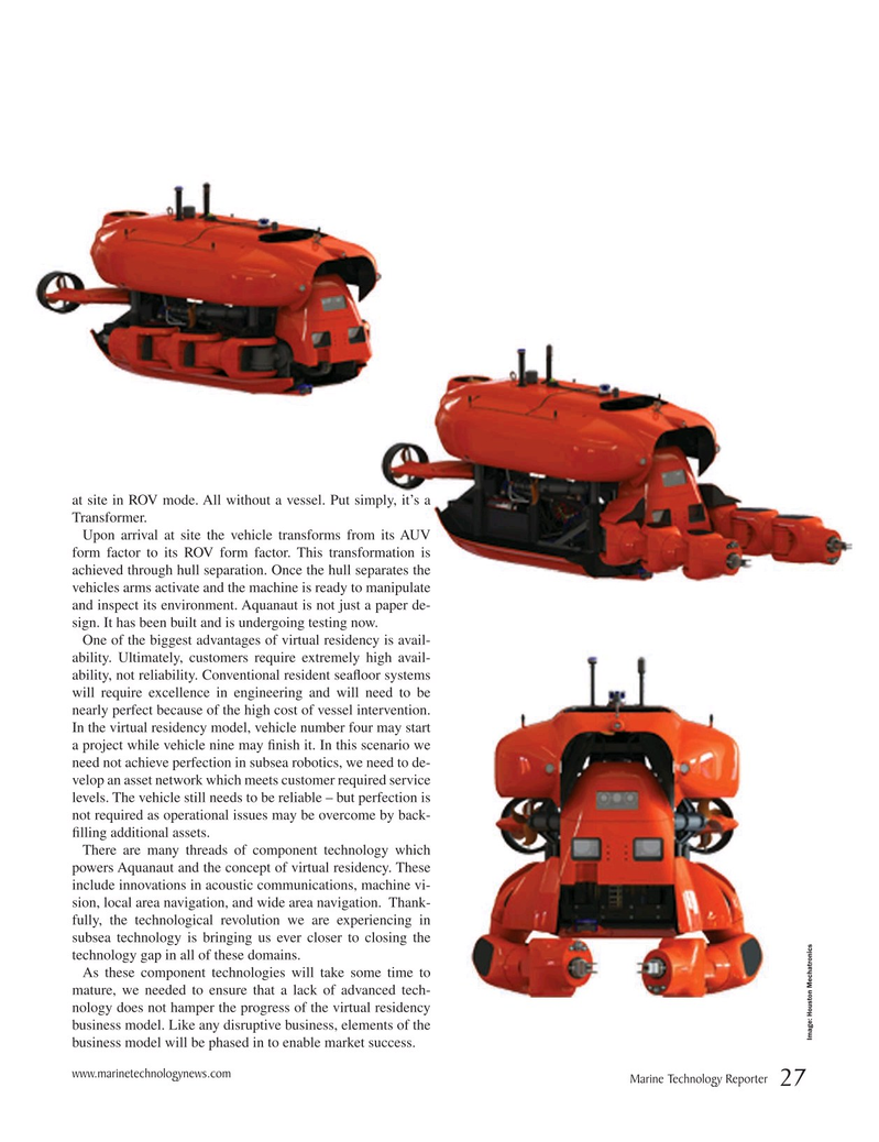 Marine Technology Magazine, page 27,  Apr 2019