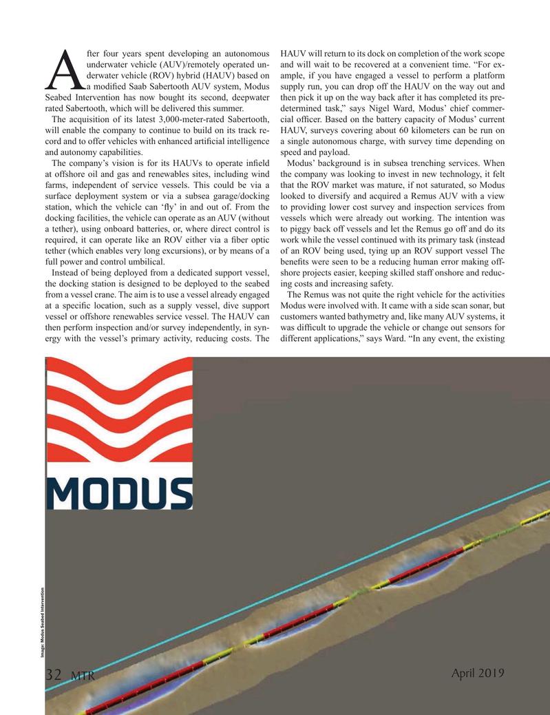 Marine Technology Magazine, page 32,  Apr 2019