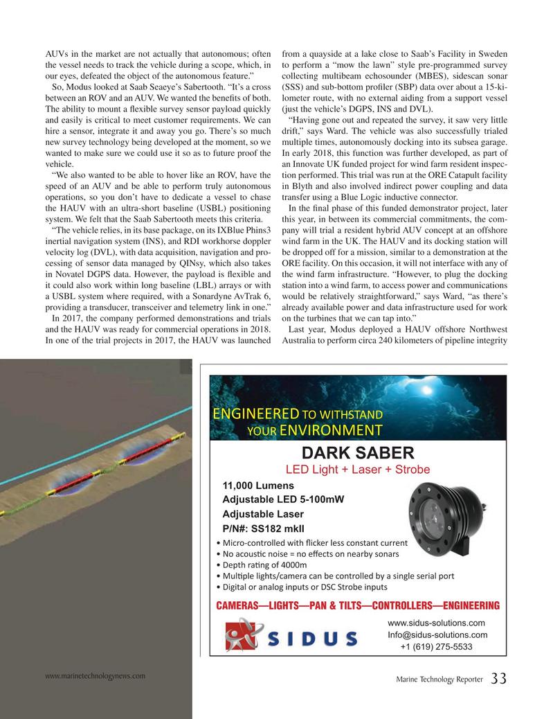Marine Technology Magazine, page 33,  Apr 2019
