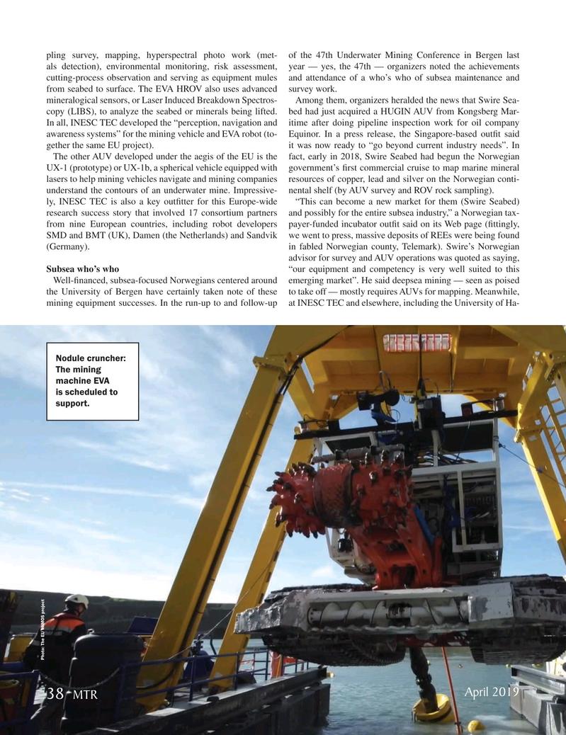 Marine Technology Magazine, page 38,  Apr 2019