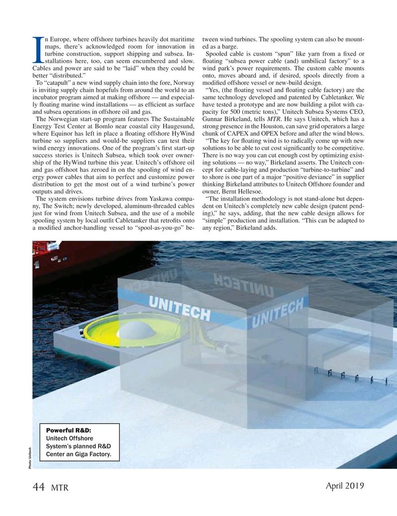 Marine Technology Magazine, page 44,  Apr 2019