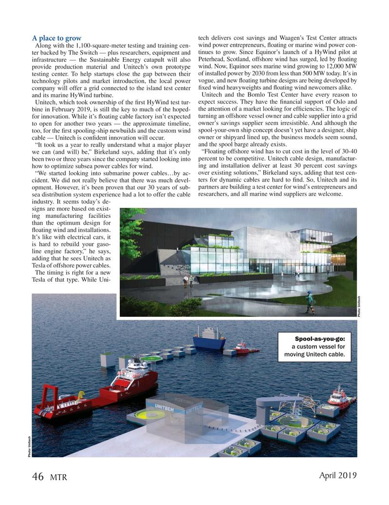 Marine Technology Magazine, page 46,  Apr 2019