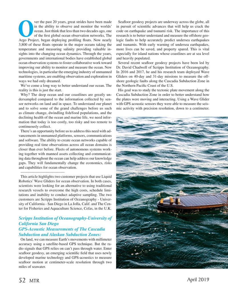 Marine Technology Magazine, page 52,  Apr 2019