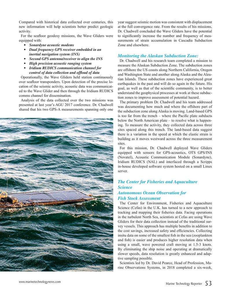 Marine Technology Magazine, page 53,  Apr 2019