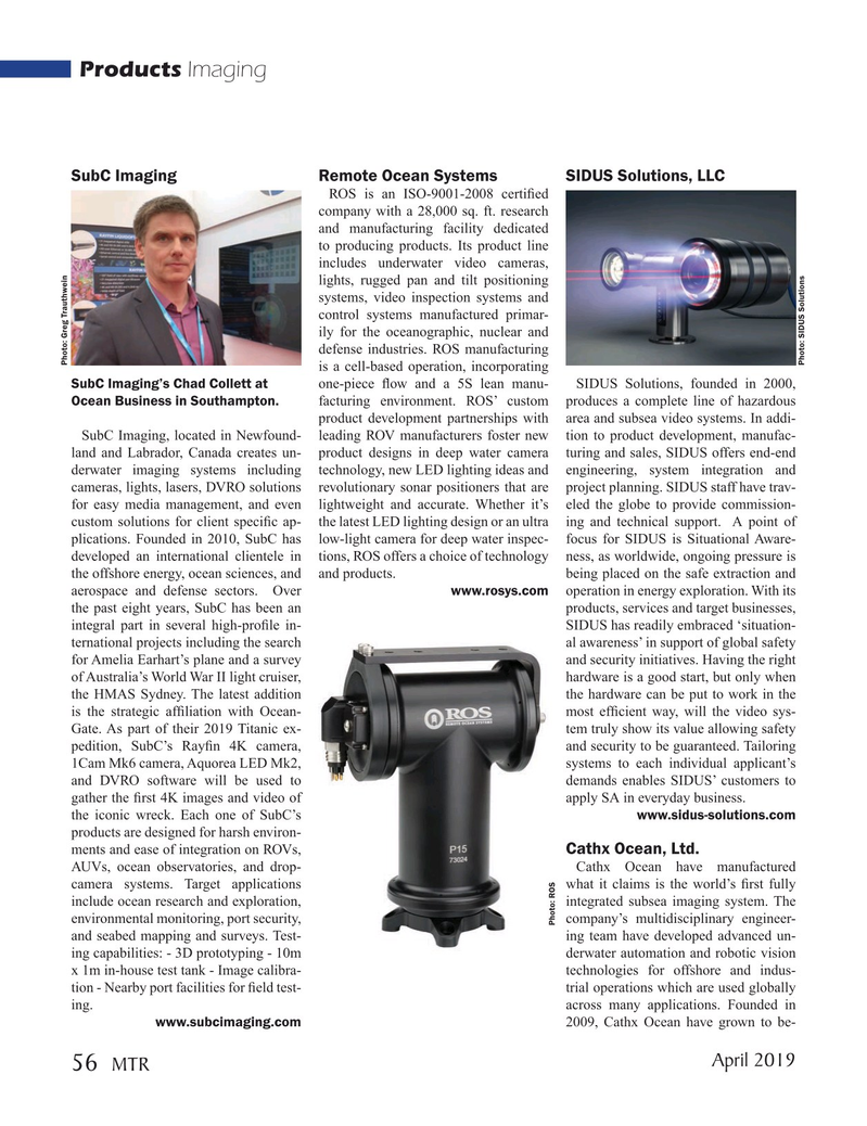 Marine Technology Magazine, page 56,  Apr 2019