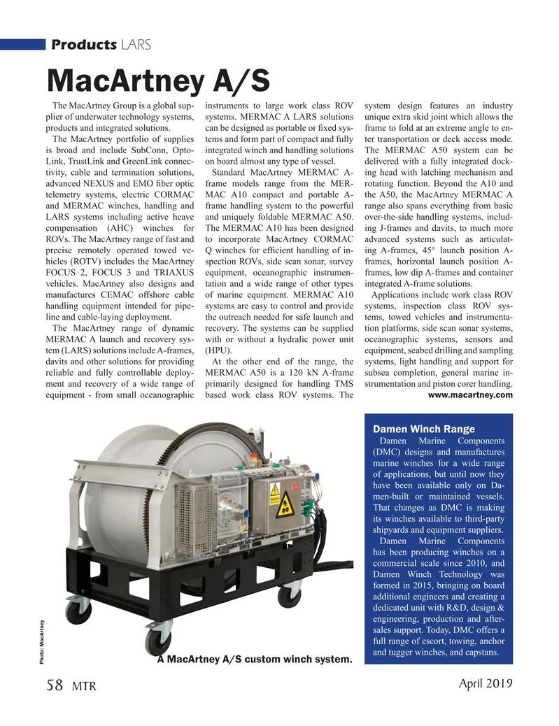 Marine Technology Magazine, page 58,  Apr 2019