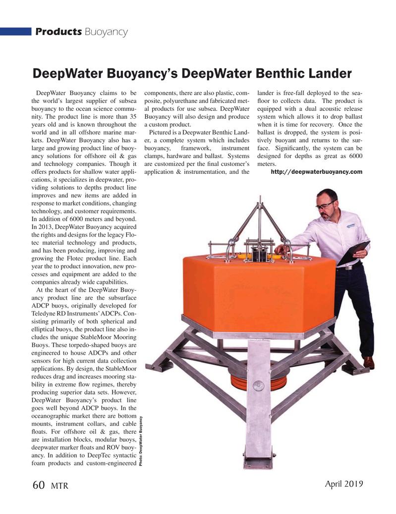 Marine Technology Magazine, page 60,  Apr 2019