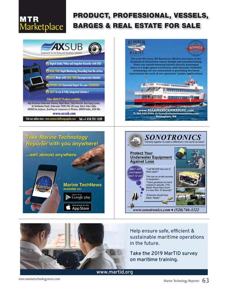 Marine Technology Magazine, page 63,  Apr 2019