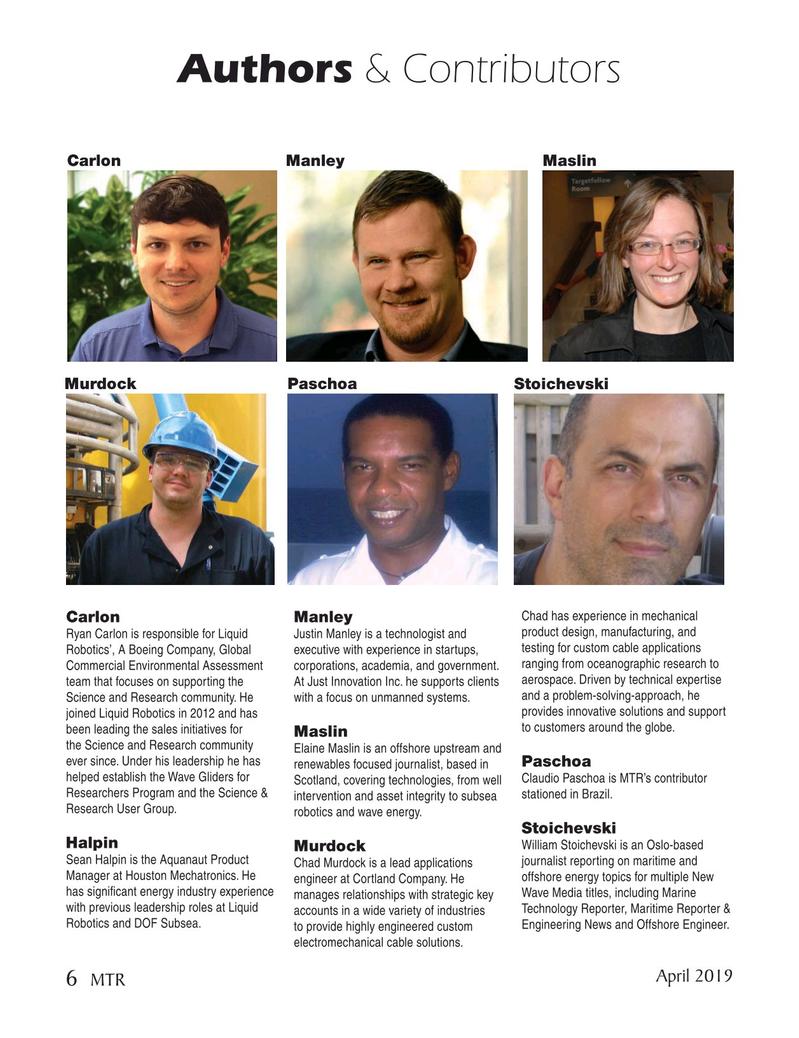 Marine Technology Magazine, page 6,  Apr 2019