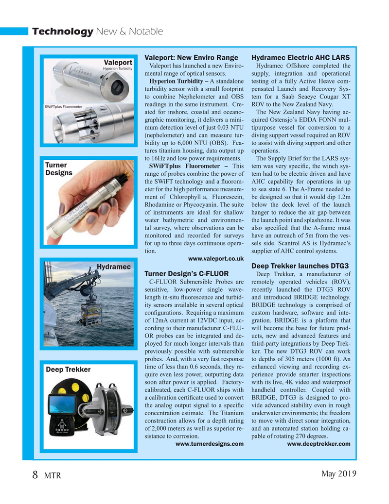 Marine Technology Magazine, page 8,  May 2019